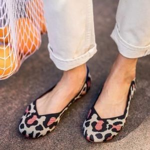 Rothy's red big cat round toe flats